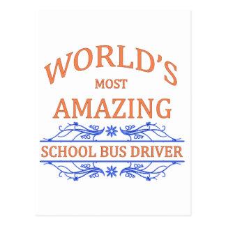School Bus Driver Post Card