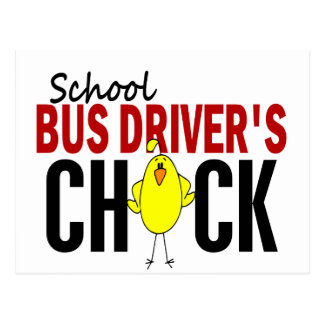 School Bus Driver s Chick Post Cards