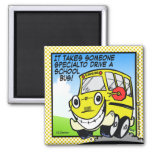 School Bus Driver Square Magnet