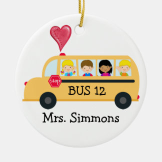 School Bus Driver - SRF Christmas Ornament