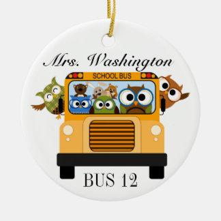 School Bus Driver - SRF Round Ceramic Decoration