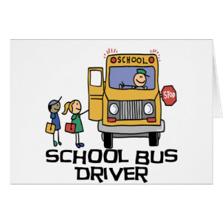 school bus drivers cards photo card templates invitations more. Black Bedroom Furniture Sets. Home Design Ideas