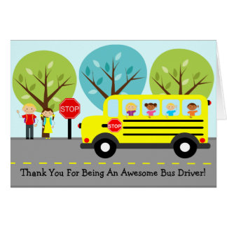 School Bus Driver Thank You Greeting Card