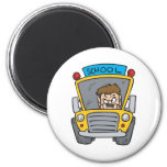 School Bus Fridge Magnet