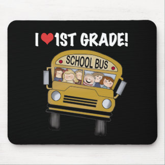 School Bus I Love 1st Grade Mouse Pad