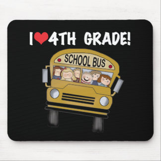 School Bus I Love 4th Grade Mouse Pad