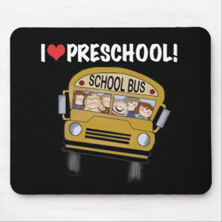 School Bus I Love Preschool Mouse Mat