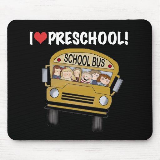 School Bus I Love Preschool Mouse Mats