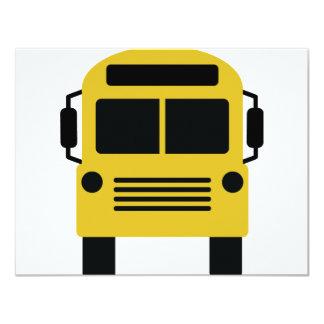 school bus icon card