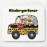 School Bus Kindergartener Tshirts and Gifts Mouse Pad