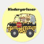 School Bus Kindergartener Tshirts and Gifts Round Sticker