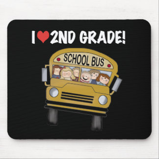 School Bus Love 2nd Grade Mouse Pad