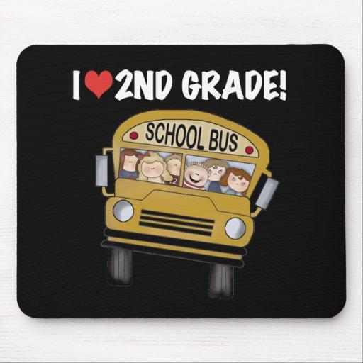 School Bus Love 2nd Grade Mouse Mats