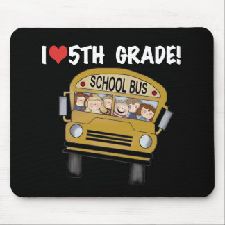 School Bus Love 5th Grade Mouse Pad