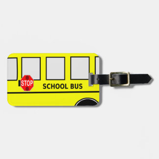 School Bus Luggage Tag