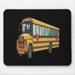 School Bus Mouse Mat