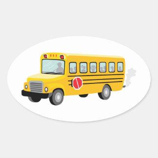 School Bus Oval Sticker