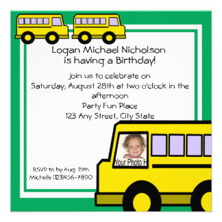 School Bus photo Custom Announcements