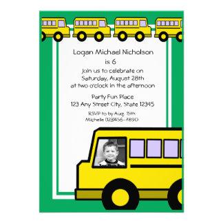 School Bus photo Invites