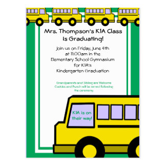School Bus photo Post Card