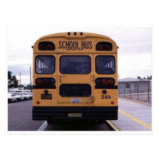 School Bus Picture Postcard