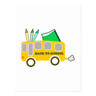 School Bus Post Card