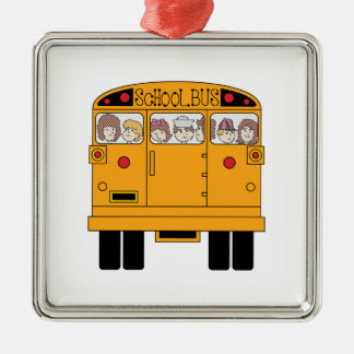 School Bus Rear Christmas Ornament