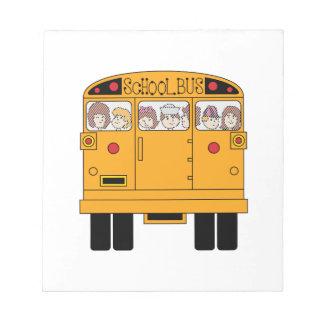 School Bus Rear Notepad