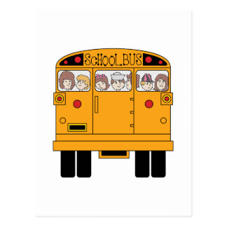 School Bus Rear Postcard