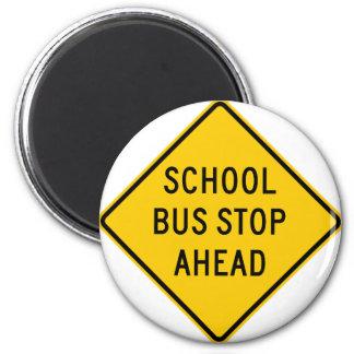 School Bus Stop Highway Sign Magnet