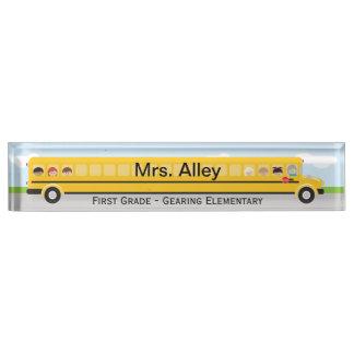 School Bus | Teacher Name Plate