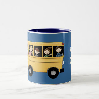 School Bus with Driver & Kid's Customizable Mug
