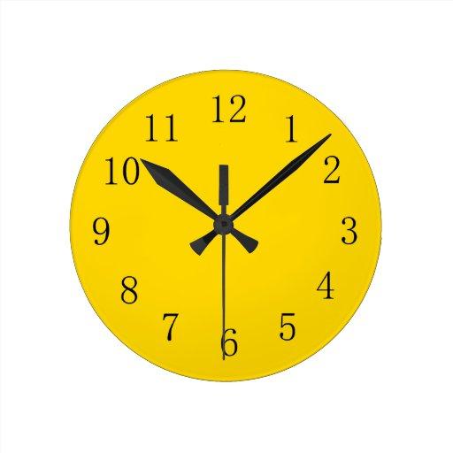 school bus yellow kitchen wall clock zazzle
