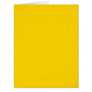 School Bus Yellow Solid Color Greeting Cards