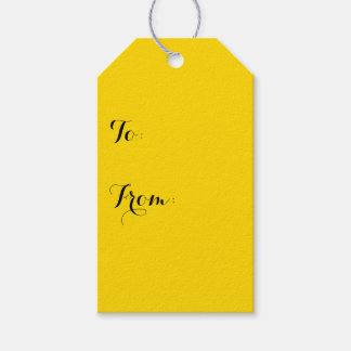 School Bus Yellow Solid Color Gift Tags