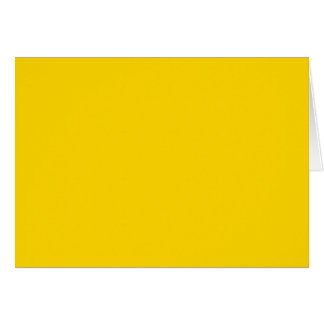 School Bus Yellow Solid Color Greeting Card