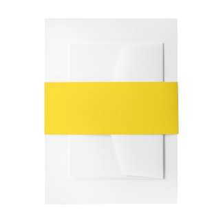 School Bus Yellow Solid Color Invitation Belly Band