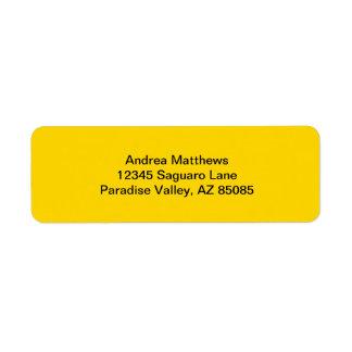 School Bus Yellow Solid Color Return Address Label