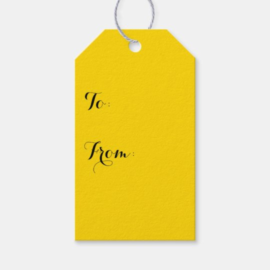 School Bus Yellow Solid Colour Gift Tags