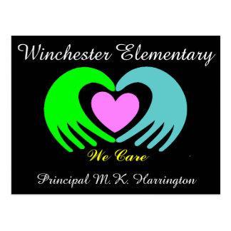 School Business Hands and Heart Postcard - SRF