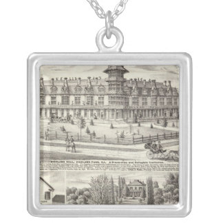 School, businesses & residences in Highland Park Silver Plated Necklace