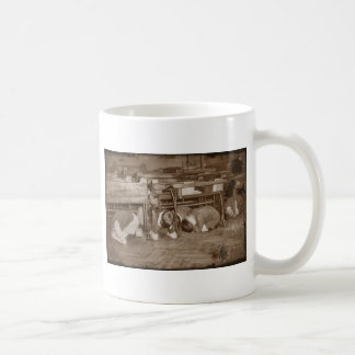 School Children and Air Raid Basic White Mug