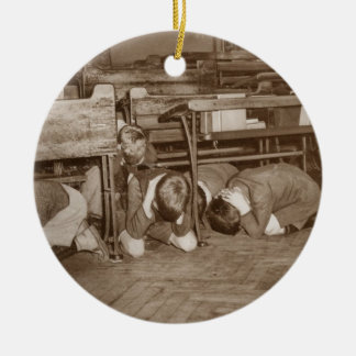School Children and Air Raid Ornaments