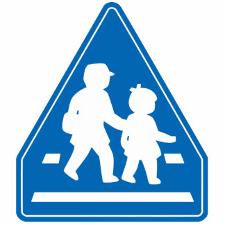 School Children Crossing >> Japanese Traffic Sign Standing Photo Sculpture