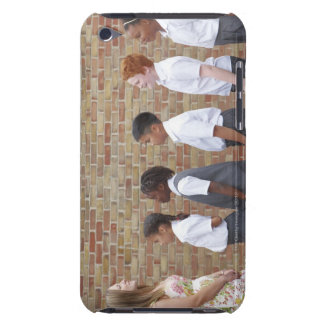 School children lining up in the playground for Case-Mate iPod touch case
