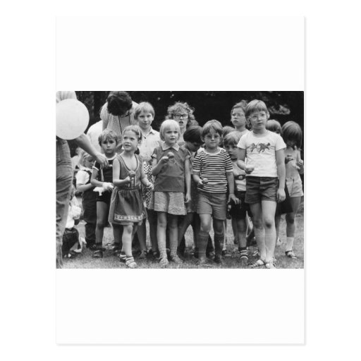 school children start egg and spoon race post cards