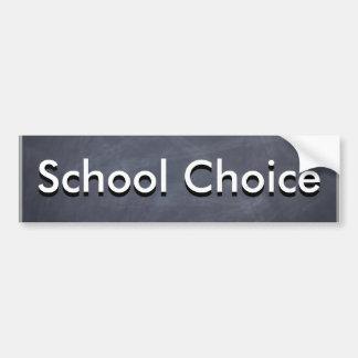 School Choice Bumper Sticker
