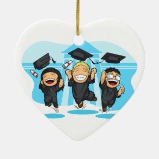 School-College Graduation Cartoon Ornaments