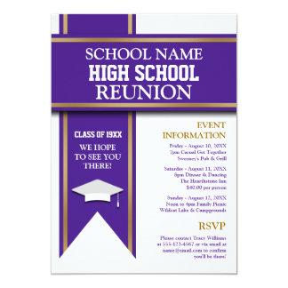 School Colors Banner Custom Class Reunion Card