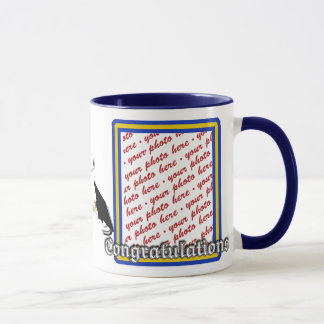 School Colors  Blue & Gold Graduation Frame Mug